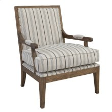 Crocker Accent Chair Blue Stripe