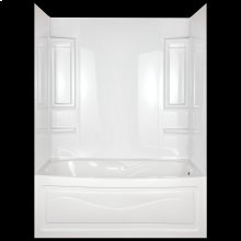 High Gloss White Bathtub Wall Set