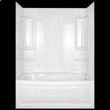High Gloss White Bathtub Wall Set