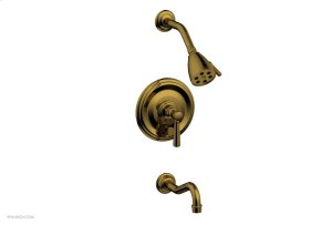 HENRI Pressure Balance Tub and Shower Set - Lever Handle 161-27 - French Brass Product Image