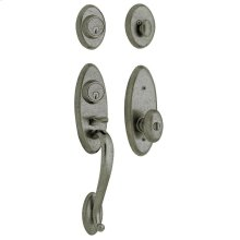 Distressed Antique Nickel Landon Two-Point Lock Handleset