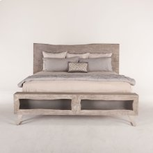 London Loft Bed King Weathered Gray