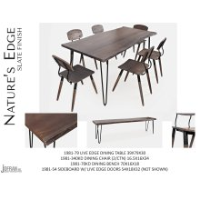 "Nature's Edge 60"" Dining Table With 4 Chairs - Brushed Grey"