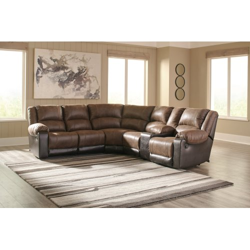 Nantahala - Coffee 5 Piece Sectional