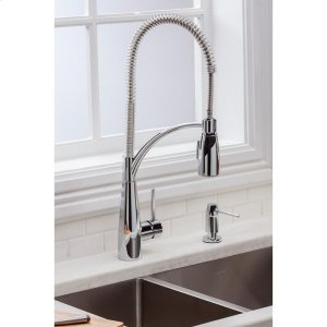 Elkay Avado Single Hole Kitchen Faucet with Semi-Professional Spout Forward Only Lever Handle Chrome Product Image
