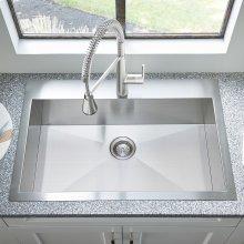 Edgewater 33x22 Stainless Steel Kitchen Sink  American Standard - Stainless Steel