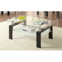 Occasional Contemporary Black Coffee Table