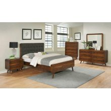 Robyn Mid-century Modern Dark Walnut Queen Bed