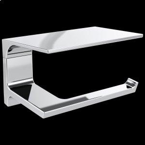 Chrome Tissue Holder with Shelf Product Image
