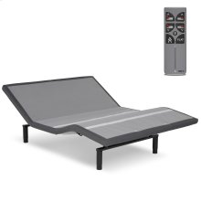 Falcon 2.0+ Low-Profile Adjustable Bed Base with Under-Bed Lighting, Charcoal Gray, Queen