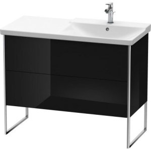 Vanity Unit Floorstanding, Black High Gloss Lacquer