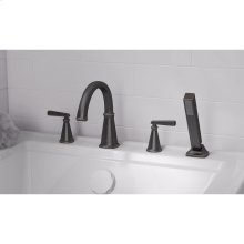 Edgemere Deck Mount Tub Filler with Hand Shower  American Standard - Legacy Bronze