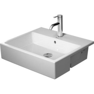 Vero Air Semi-recessed Washbasin Without Faucet Hole
