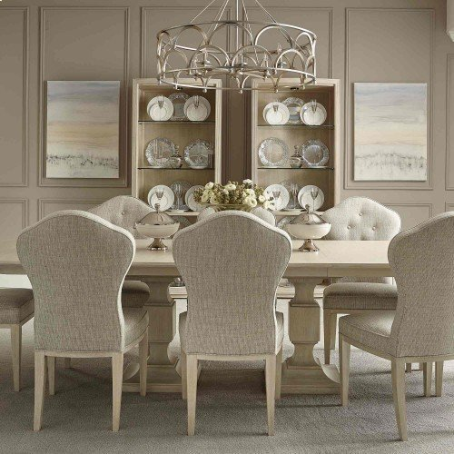East Hampton Rectangular Dining Table in Cerused Linen (395)