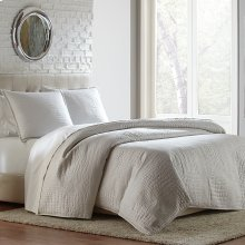 3pc King Coverlet/Duvet White