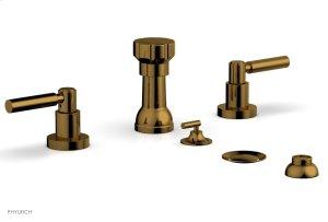 BASIC Four Hole Bidet Set - Lever Handles D4130 - French Brass Product Image