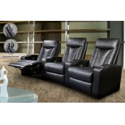 Pavillion Black Leather Element Recliner Product Image