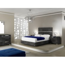 The Milo King Gray Birch Lacquer Beds