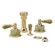 REGENT Four Hole Bidet Set K4270 - Polished Brass