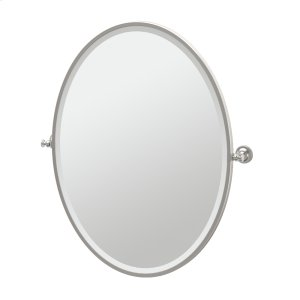 Tavern Framed Oval Mirror in Satin Nickel Product Image