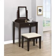 Transitional Espresso Vanity and Stool Product Image