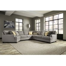 Cresson - Pewter Armless Loveseat, Armless Chair, Right Loveseat, Left Cuddler, Wedge