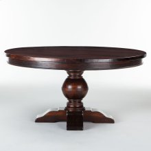 """Colonial Plantation Round Dining Table 54"""" Light"""