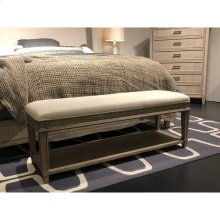 Willow Bed End Bench - Burlap