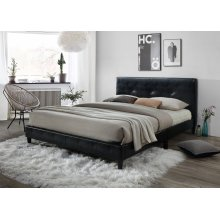 Jester Black Tufted Upholstered Queen Bed