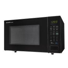 1.4 cu. ft. 1000W Sharp Black Countertop Microwave