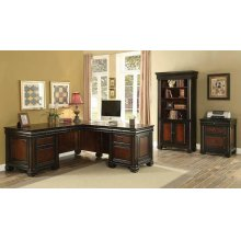 Tate Traditional Espresso Executive Desk