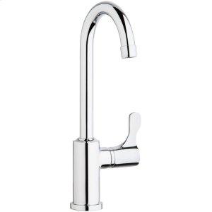 "Elkay Single Hole 12-1/2"" Vandal Resistant Deck Mount Faucet with Gooseneck Spout Lever Handle on Right Side Chrome Product Image"