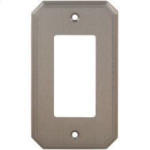 Single Rocker Traditional Switchplate in (US15 Satin Nickel Plated, Lacquered)