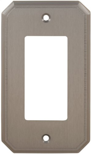 Single Rocker Traditional Switchplate in (US15 Satin Nickel Plated, Lacquered) Product Image