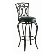 Casual Black Metal Bar Stool Product Image