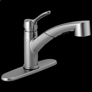 Arctic Stainless Single Handle Tract-Pack Pull-Out Kitchen Faucet Product Image