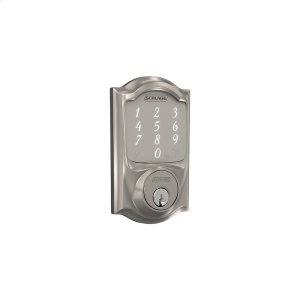 Schlage Sense Smart Deadbolt with Camelot trim - Satin Nickel Product Image