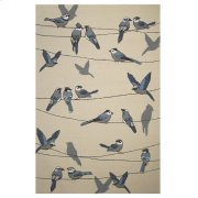 "CLEARANCE ITEM--Harbor 4221 Ivory Birds On A Wire 5' X 7'6"" Product Image"