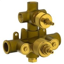 """1/2"""" Thermostatic Valve With Built In Vol Control & 3-way Diverter"""