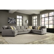 Cresson - Pewter Right Loveseat, Left Cuddler, Wedge, Armless Sofa