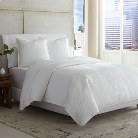 3 pc King Coverlet/Duvet White
