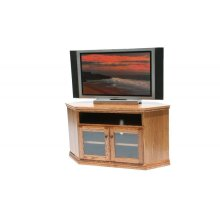 "O-T243 Traditional Oak 55"" Corner TV Console"