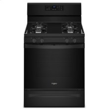 5.0 cu. ft. Freestanding Gas Range with Adjustable Self-Cleaning Black