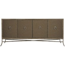 Rustic Patina Entertainment Console in Peppercorn (387)