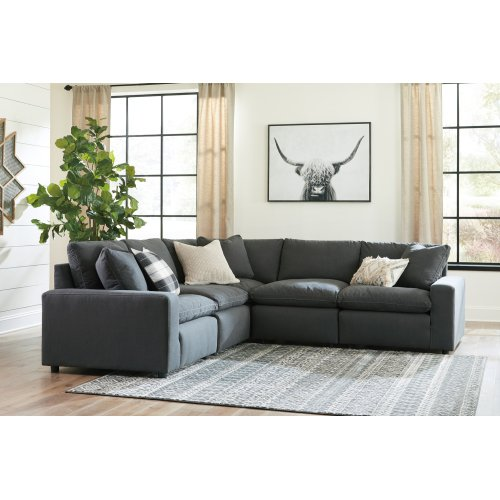 Savesto - Charcoal 6 Piece Sectional