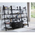 Contemporary Cappuccino Leaning Bookcase Product Image
