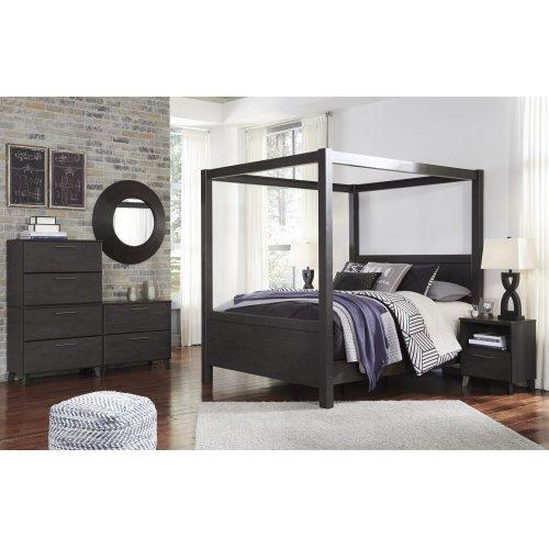 Daltori - Black 3 Piece Bed Set (Queen)