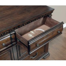 Satterfield Traditional Warm Bourbon Six-drawer Dresser