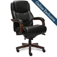 Delano Big & Tall Executive Office Chair, Black