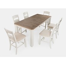 Dana Point Extension Counter Height Table With 4 Ladderback Stools